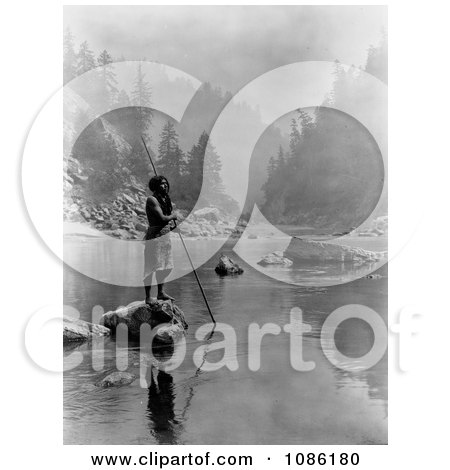 Hupa Man With Spear - Free Historical Stock Photography by JVPD