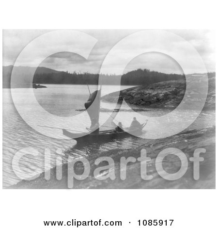 Indian Canoe With a Sail - Free Historical Stock Photography by JVPD