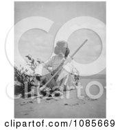 Indian Man Smoking Free Historical Stock Photography