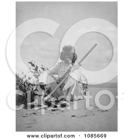 Indian Man Smoking - Free Historical Stock Photography by JVPD
