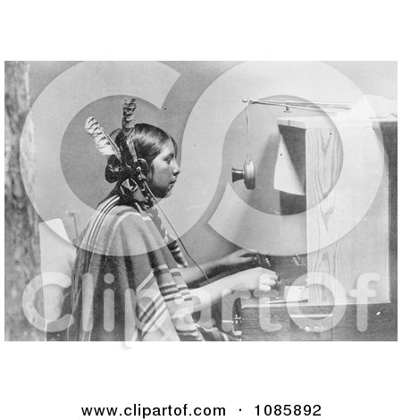 Indian Telephone Operator - Free Historical Stock Photography by JVPD