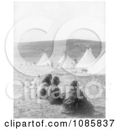 Indians And Tipis At Camp Gossips Free Historical Stock Photography