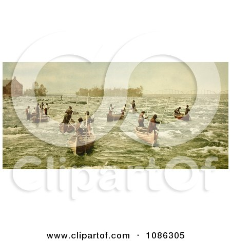 Indians Fishing on the Saint Marys River - Free Historical Stock Photography by JVPD