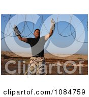 Installing Barbed Wire Free Stock Photography