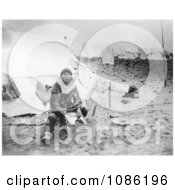 Inuit Doing Laundry Free Historical Stock Photography