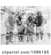 Inuit Eskimo Family Free Historical Stock Photography