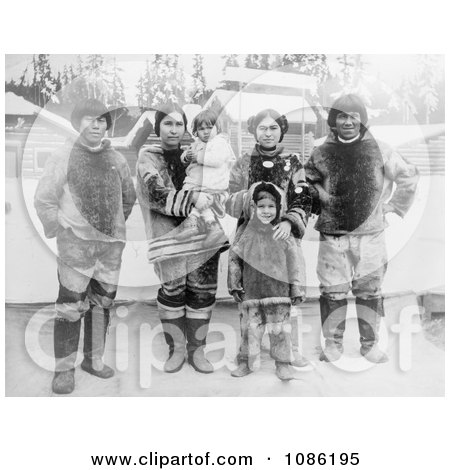 Inuit Eskimo Family - Free Historical Stock Photography by JVPD