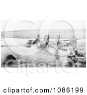 Inuit Hunting Salmon Free Historical Stock Photography