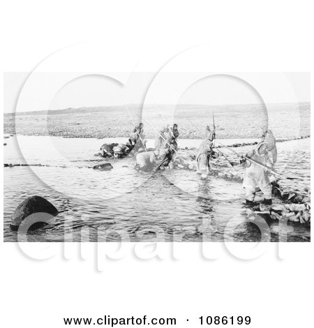 Inuit Hunting Salmon - Free Historical Stock Photography by JVPD