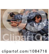 Iraqi Police Shooting Weapons Free Stock Photography