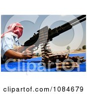 Iraqi Policeman With A Weapon Free Stock Photography
