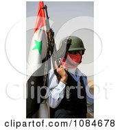 Iraqi Policeman With Concealed Face Free Stock Photography