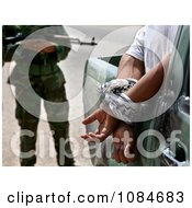 Iraqi Policeman With Suspect Free Stock Photography