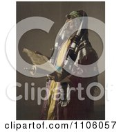 Jerusalem Rabbi Man Holding A Scroll And Phylacteries Royalty Free Historical Stock Photo