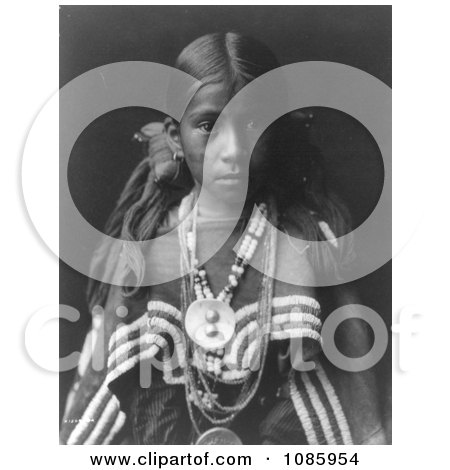 Jicarilla Apache Girl - Free Historical Stock Photography by JVPD