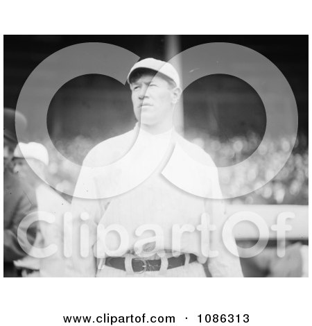 Jim Thorpe In His Giants Uniform, Looking Off To The Side, At Polo Grounds, New York - Free Historical Baseball Stock Photography by JVPD