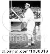 Jim Thorpe Of The Giants Standing With A Baseball Bat At Polo Grounds Free Historical Baseball Stock Photography by JVPD