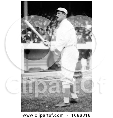 Jim Thorpe Of The Giants, Standing With A Baseball Bat At Polo Grounds - Free Historical Baseball Stock Photography by JVPD