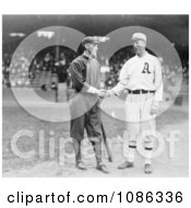 Johnny Evers Shaking Hands With Eddie Plank In 1914 Free Historical Baseball Stock Photography by JVPD