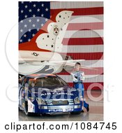 Jon Wood Air Force Race Car Driver Free Stock Photography