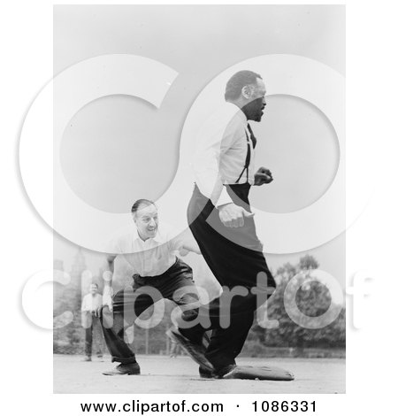 Jose Ferrer and Paul Robeson Playing Baseball - Free Historical Baseball Stock Photography by JVPD