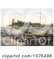 Kingsgate Castle Above Kingsgate Bay Broadstairs Thanet Kent England UK Royalty Free Stock Photography