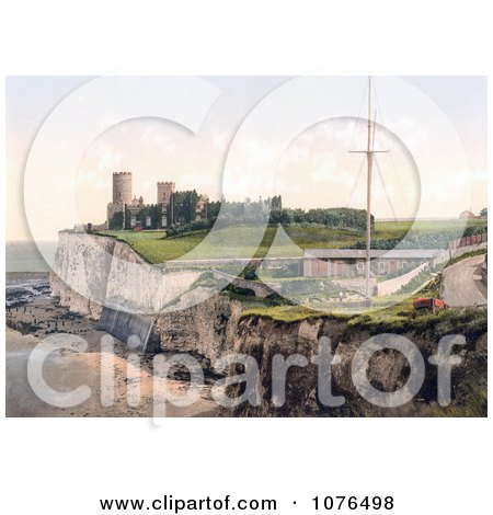 Kingsgate Castle Above Kingsgate Bay Broadstairs Thanet Kent England UK - Royalty Free Stock Photography  by JVPD