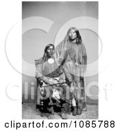 Kiowa Indians Lone Wolf And Etla Free Historical Stock Photography