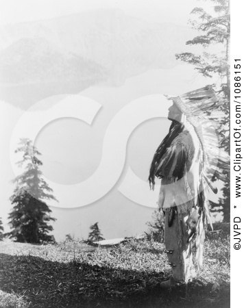 Klamath Indian Chief at Crater Lake - Free Historical Stock Photography by JVPD
