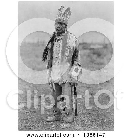 Klamath Indian Man in Costume - Free Historical Stock Photography by JVPD
