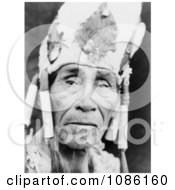 Klamath Man Wearing Head Dress Free Historical Stock Photography
