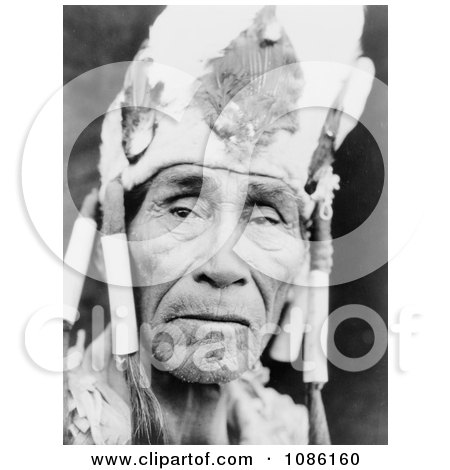 Klamath Man Wearing Head Dress - Free Historical Stock Photography by JVPD