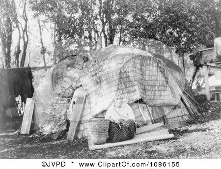 Klamath Tule Hut - Free Historical Stock Photography by JVPD