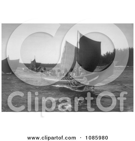 Kwakiutl Indian Canoes - Free Historical Stock Photography by JVPD