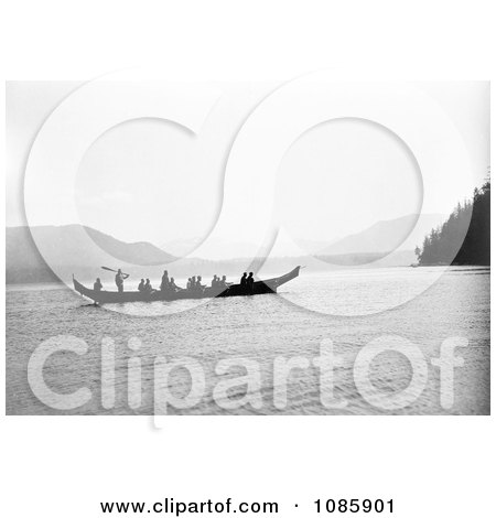 Kwakiutl Indians in Canoe - Free Historical Stock Photography by JVPD