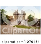 Lawns And The Gateway At Lancaster Castle In Lancaster Lancashire England UK Royalty Free Stock Photography
