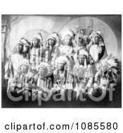 Little Wound And Other Sioux Chiefs Free Historical Stock Photography
