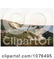 Lulworth Cove On The Coast In Lulworth Dorset England Royalty Free Stock Photography