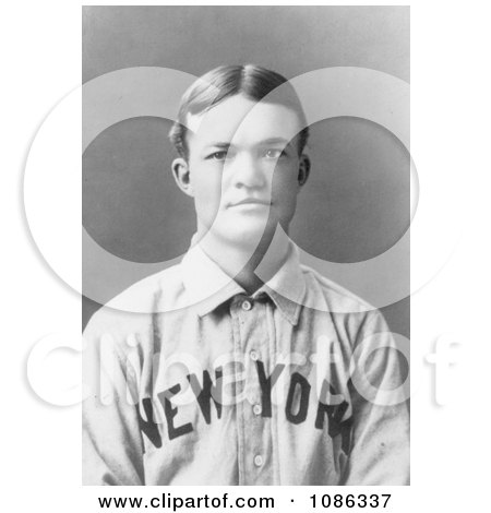 Luther Haden Taylor, or Dummy Taylor, of the NY Giants Baseball - Free Historical Baseball Stock Photography by JVPD