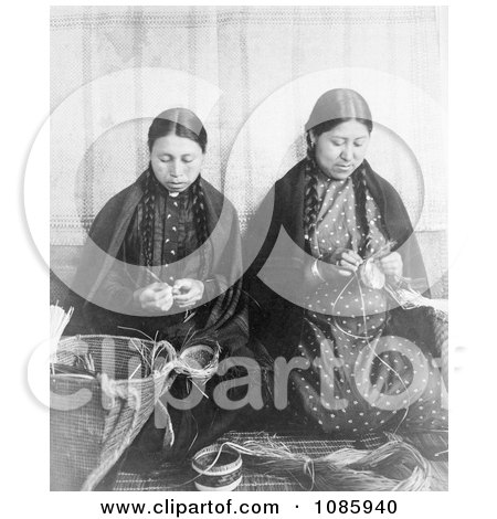 Makah Indian Basket Weavers - Free Historical Stock Photography by JVPD