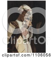 Male Shepherd Playing His Flute Royalty Free Historical Stock Photo