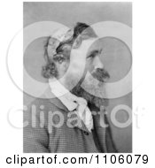 Man Robert Mcgee Who Was Scalped By Sioux Chief Little Turtle As A Child In 1864 In Profile In 1890 Royalty Free Historical Stock Photo
