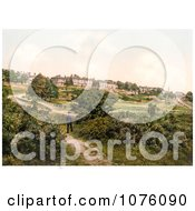 Man Strolling On A Path In The Commons Of Royal Tunbridge Wells Kent England UK Royalty Free Stock Photography