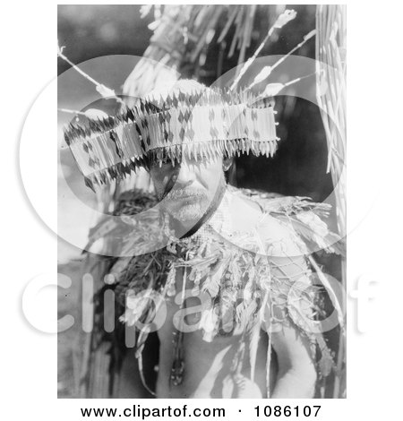 Man Wearing Pomo Dance Costume - Free Historical Stock Photography by JVPD