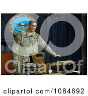 Man With Body Armor Free Stock Photography