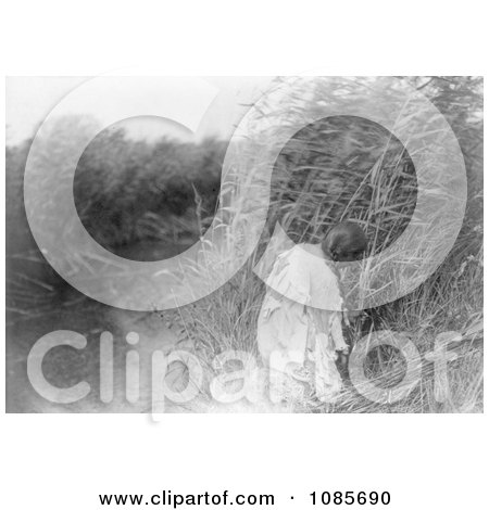 Mandan Indian Woman Cutting Rushes - Free Historical Stock Photography by JVPD