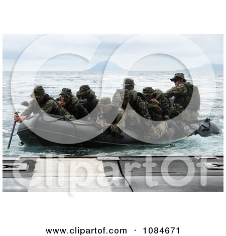 Marines Guiding an Assault Boat - Free Stock Photography by JVPD