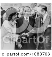 Martin Luther And Coretta King With Robert Wagner Historical Stock Photography