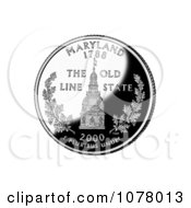 Maryland Statehouse Dome On The Maryland State Quarter Royalty Free Stock Photography by JVPD