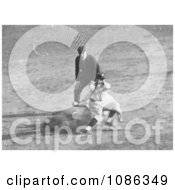 Max Carey Stealing Second Base During The 1925 World Series Baseball Game Free Historical Baseball Stock Photography by JVPD